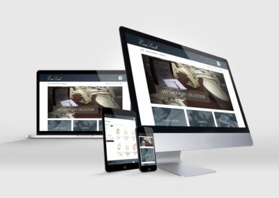 Everlink Jewelry Website Design Mockup