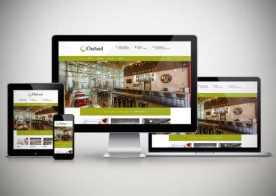Outland Builders Website Design Mockup